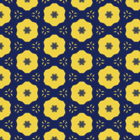 Blue + Yellow V fabric by southwind on Spoonflower - custom fabric