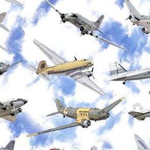 Douglas Dakota DC3 - Illustration