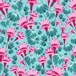 Pink & Teal Lovely Floral
