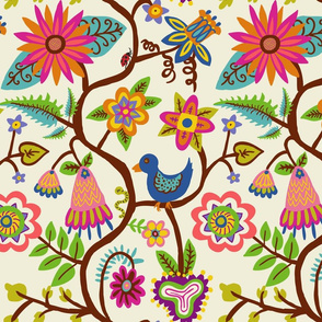 vines and flowers pattern _1 WHITE-01
