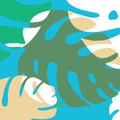 Palm Leaves-Blue