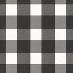 Black and White Buffalo Plaid Check