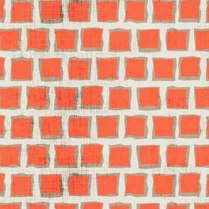 Autumn Squares Orange Red Tan Distress Grunge Texture _ Miss Chiff Designs