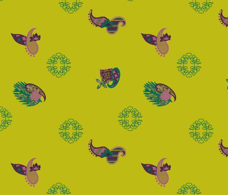 SmashedFlowerPaisley Pieces 2 fabric by maria_spinozzi on Spoonflower - custom fabric