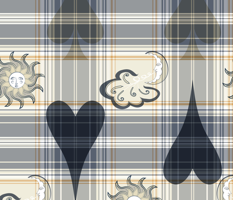 lovely near, blue fabric by ejmart on Spoonflower - custom fabric
