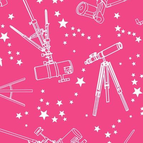 Telescopes - pink background