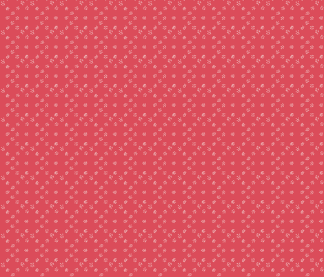 simple on red coral fabric by ainamas on Spoonflower - custom fabric