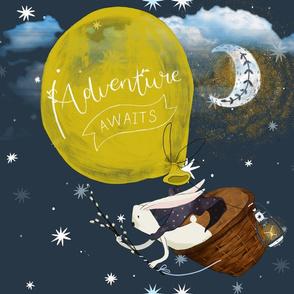 Gender Neutral Nursery Dreaming of Adventure