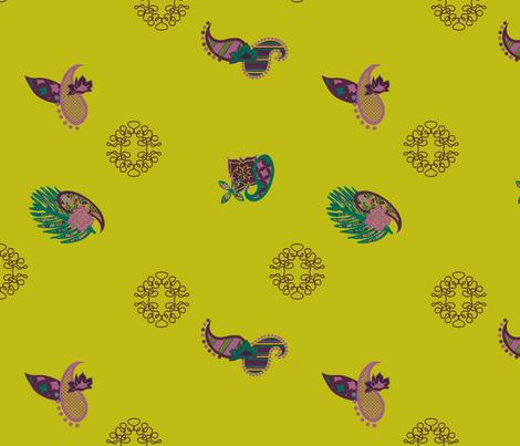 SmashedFlowerPaisley Pieces fabric by maria_spinozzi on Spoonflower - custom fabric