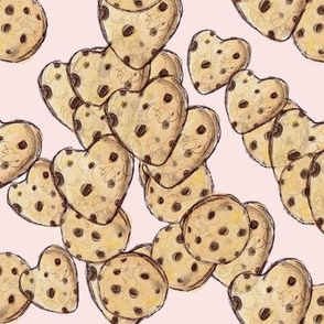 Large // Heart Cookies // Blush