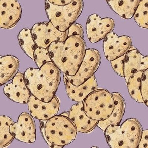 Large // Heart Cookies // Shady Lavender