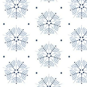 Trois Arcs Floral III in China Blue