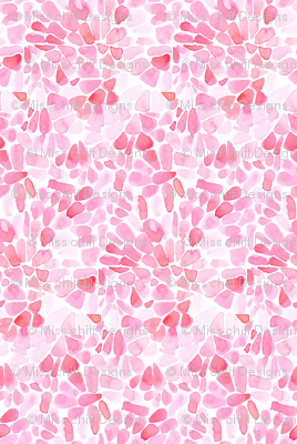 Pink Blush Flower Petals Watercolor _ Miss Chiff Designs