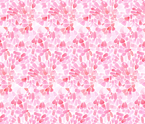 Pink Blush Flower Petals Watercolor _ Miss Chiff Designs  fabric by misschiffdesigns on Spoonflower - custom fabric