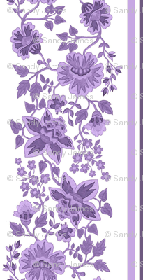 Jacobean lavender large scale