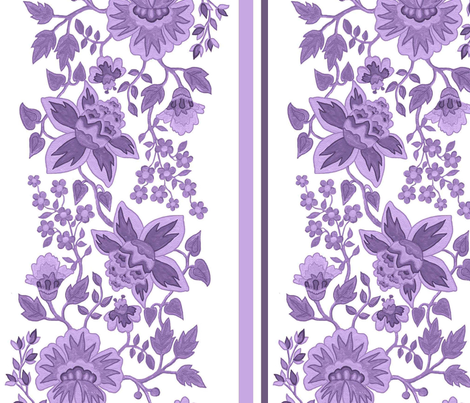 Jacobean lavender large scale fabric by leroyj on Spoonflower - custom fabric