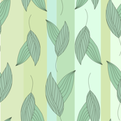 green_leaves-stripes_pattern