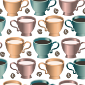 coffee cups on white