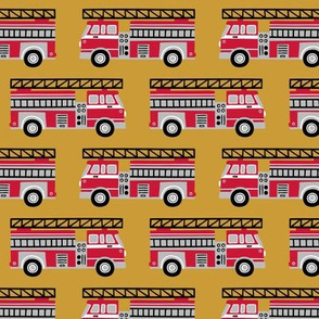 firetrucks - mustard