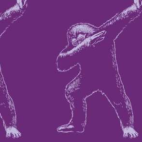 Bigfoot Dabbing Dance Purple