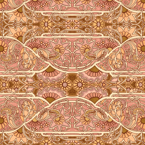 Sines of Impending Fall fabric by edsel2084 on Spoonflower - custom fabric