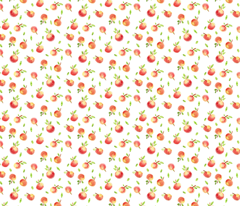Fall Apples fabric by sobonnydesigns on Spoonflower - custom fabric