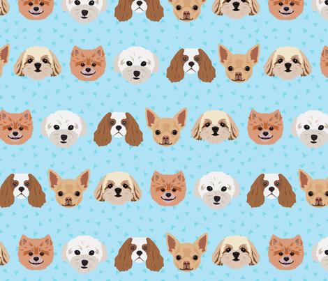 Dogs - Blue Pattern Background fabric by designtherapy on Spoonflower - custom fabric