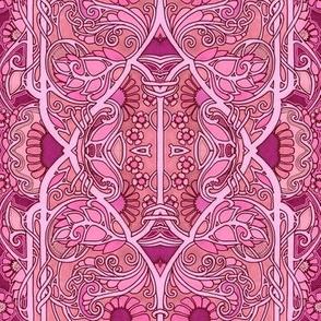 Hot Pink Arabesque