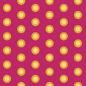 Double polkadot yellow on pink
