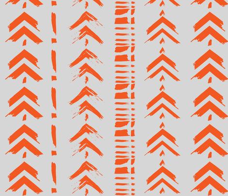 Orange Arrow Brush Strokes fabric by paisleylady on Spoonflower - custom fabric