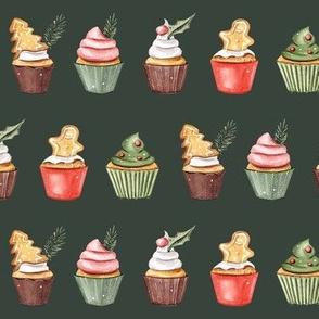 Holiday Cupcakes // Lunar Green