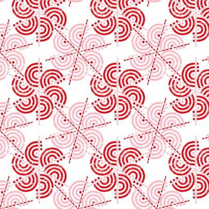 Trois Arcs Floral II In Rose Red