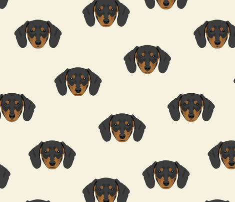 Dachshund Dog Seamless Pattern - White Background fabric by designtherapy on Spoonflower - custom fabric
