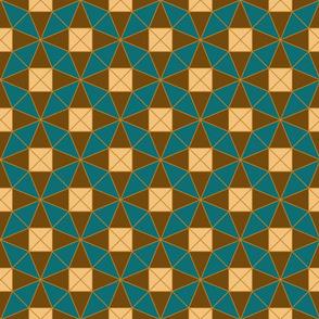 Square geometric tessellation
