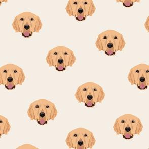 Yellow Labrador Retriever Pattern - White Background