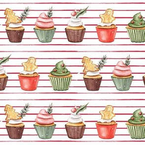 Holiday Cupcakes // Thin Red Stripes