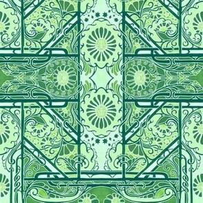 Green Stencil Garden