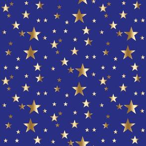 gold stars on blue wonder woman patriotic usa america