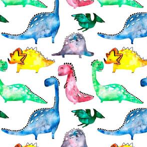 Rainbow Dinosaurs(large)