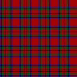 """MacDuff tartan, 2"""" black line large red"""