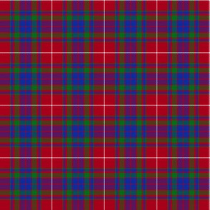 Fraser red gathering tartan, 2""