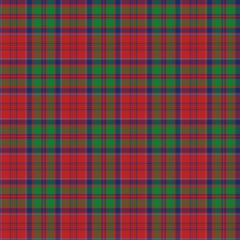"Grant tartan - 2"" red/green/navy fabric by weavingmajor on Spoonflower - custom fabric"
