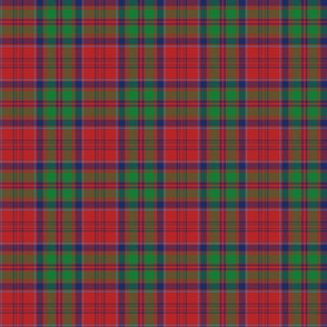"Grant tartan - 2"" red/green/navy"
