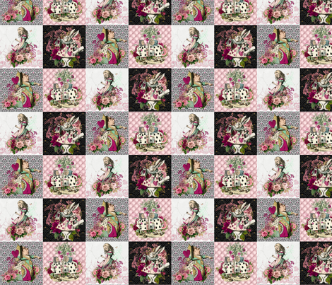 Wonderland Patchwork fabric by floramoon on Spoonflower - custom fabric