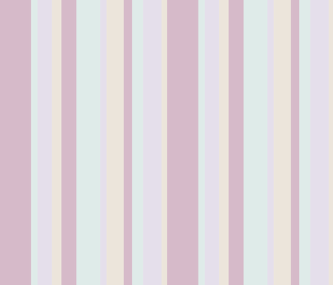 sun soaked pastel beach stripes in purple, blue, lavender and yellow colors fabric by cloudycapevintage on Spoonflower - custom fabric