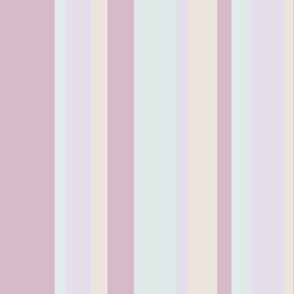 sun soaked pastel beach stripes in purple, blue, lavender and yellow colors