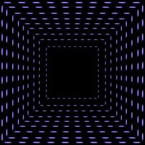60s optical squares on black