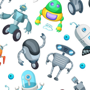 Cartoon Funky robots