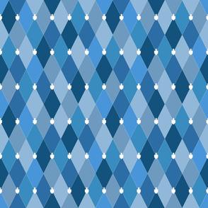 Small Blue Dreidel Argyle