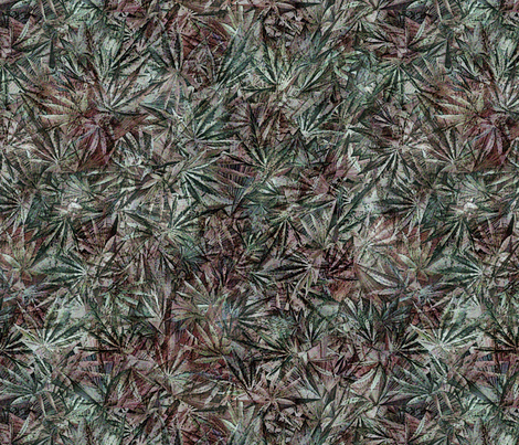 Grunge Cannabis Leaves Green fabric by camomoto on Spoonflower - custom fabric